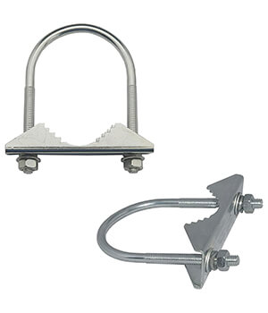 Spacecom antenna mounting clamps